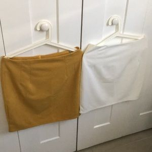 Dresses & Skirts - Mustard & Cream Skirts XL BUT RUN SMALL